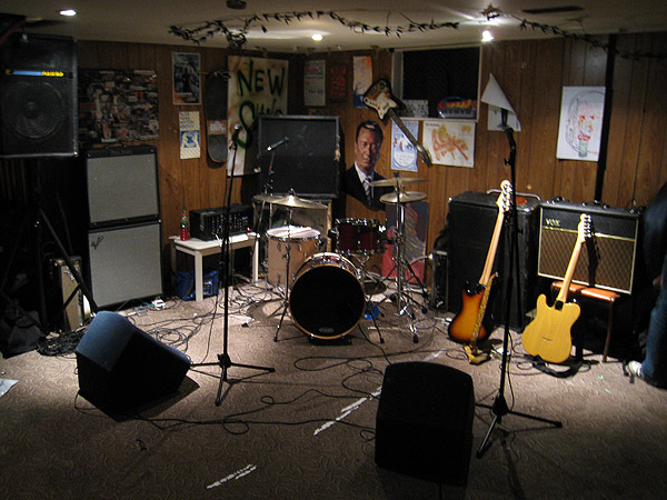 Rocky Saugeen Basement With Band Setup At Historical Hamilton